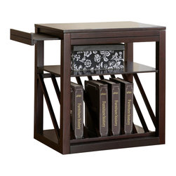 Steve Silver - Steve Silver Jameson 23x16 Chairside End Table in Rich Cherry - The Jameson chairside end table is the perfect addition for a small area with a need for functional and beautiful storage. Use this table to display books, boxes, or decorative additions. Pull-out platforms add marginal space if more room becomes necessary. Choose either the cherry or oak finish! What's included: Chairside Table (1).