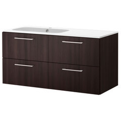 modern bathroom vanities and sink consoles by IKEA