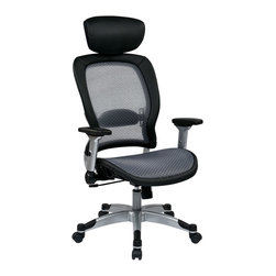 Office Star - Office Star Professional Light Air Grid Back and Seat Chair With Headrest - SPACE Seating Professional Light Air Grid Back and Seat Chair with Headrest What's included: Office Chair (1).