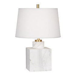Robert Abbey - Robert Abbey Jonathan Adler Canaan Small Table Lamp 795 - Carrera Marble Base