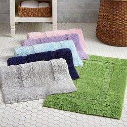 "Classic Bath Mat - Our Essential Bath Mat is crafted from ""zero twist"" pure cotton for extreme softness, extra absorbency and superb drying ability."