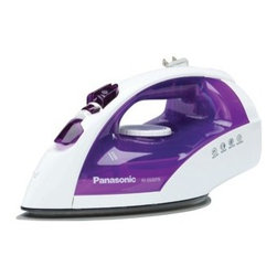 Panasonic - 1200-Watt Micro-Spray Mist, Titanium Coating Non-Stick Sole Plate - Features: