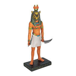 EttansPalace - Classic Ancient Egyptian Statue Sekhmet the Warrior Goddess Sculpture Figurine - Sekhmet, the warrior goddess, rears her lion head, signifying power and nobility. Our exclusives are cast in quality designer resin and hand-painted in a rich Egyptian palette.