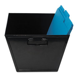 Advantus - Advantus Steel File and Storage Bin, Legal, 15 1/2 x 11 1/4 x 7 3/8, Black - Holds hanging folders.
