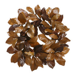 Silk Plants Direct - Silk Plants Direct Magnolia Leaf and Pine Cone Wreath (Pack of 2) - Pack of 2. Silk Plants Direct specializes in manufacturing, design and supply of the most life-like, premium quality artificial plants, trees, flowers, arrangements, topiaries and containers for home, office and commercial use. Our Magnolia Leaf and Pine Cone Wreath includes the following: