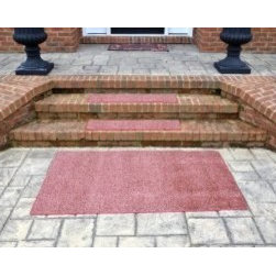 """Dean Flooring Company - Dean Indoor/Outdoor Carpet Stair Treads - China Berry 36"""" x 9"""" (3) - Plus Mat - Dean Indoor/Outdoor Carpet Stair Treads - China Berry 36"""" x 9"""" (Set of 3) - Plus 3' x 5' Rug/Mat : Indoor/Outdoor Attachable Carpet Stair Treads by Dean Flooring Company. Color: China Berry Face: 100% Hi UV stabilized polypropylene fiber. Backing: All weather. Edges: Bound - will not ravel or delaminate. Size: 36"""" x 9"""". Each set includes three stair treads plus a matching 3' x 5' mat. Fade resistant. Commercial or residential. Helps prevent slips on your stairs. Great for helping your dog easily navigate your slippery staircase. Reduces noise. Reduces wear and tear on your stairs. Easy to clean (hose off, sweep, vacuum, spot clean). Attractive: adds a fresh new look to your staircase. Easy DIY installation with heavy duty indoor/outdoor double sided carpet tape (not included - sold separately). Made in the USA! Add a touch of warmth and style to your home today with stair treads from Dean Flooring Company!"""