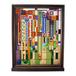 Summit - Frank Lloyd Wright Cactus Flowers Stained Glass - This gorgeous Frank Lloyd Wright Cactus Flowers Stained Glass has the finest details and highest quality you will find anywhere! Frank Lloyd Wright Cactus Flowers Stained Glass is truly remarkable.
