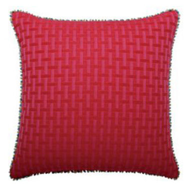 """New Elaine Smith Pillows - Kaleidoscope Quilted Basketweave - 20"""" x 20"""" Elaine Smith Pillows"""