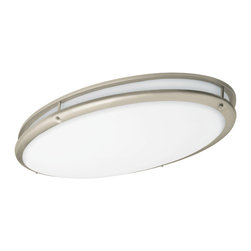 AFX Lighting - AFX Lighting CSV3232NT Nickel Flush Mount - A guiding light. This fixture mounts flush against the ceiling so it keeps a low profile while still casting plenty of light, making it a good choice for your bath, hallway or foyer.