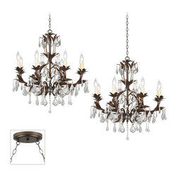 """Kathy Ireland - Crystal Venezia Bronze Double Swag Chandelier - Our multi swag chandeliers let you add designer lighting to any room. The special swag canopy installs into any ceiling junction box just like a normal ceiling light or chandelier. Install hooks in the ceiling and swag the chain to the canopy; adjust the hanging length as desired. With the hanging options you can get the exact look and light placement you need. This version features a bronze finish double swag canopy. It's paired with two designer eight light bronze finish Venezia chandeliers with elegant crystal accents from Kathy Ireland. Multi swag chandelier. With two designer Venezia chandeliers in bronze finish. Includes bronze finish special canopy adaptor. Installs into any ceiling junction box. Includes swag hooks and mounting hardware. Each chandelier includes 12 feet of wire 6 feet of chain. Takes sixteen 60 watt candelabra bulbs (not included). Canopy is 7"""" wide. Each chandelier is 26"""" wide 23"""" high. Some assembly required; instructions included.  Multi swag chandelier.  With two designer  Venezia chandeliers in bronze finish.  Includes bronze finish special canopy adaptor.  Installs into any ceiling junction box.  Includes swag hooks and mounting hardware.  Each chandelier includes 12 feet of wire 6 feet of chain.  Use this large chandelier in a foyer or dining room.  Takes sixteen 60 watt candelabra bulbs (not included).  Canopy is 7"""" wide.  Each chandelier is 26"""" wide 23"""" high.  Some assembly required; instructions included."""