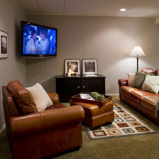 Traditional Basement by D.A. Home Improvement
