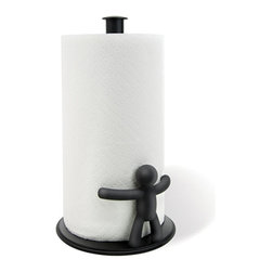 Umbra - Buddy Paper Towel Holder - A true buddy never lets you down, and the Buddy Paper Towel Holder will prove a faithful kitchen companion. It will hug your paper towel roll to provide just enough friction for a convenient one-handed tear!