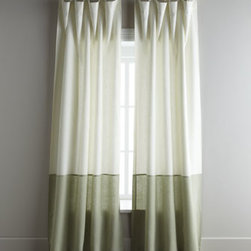 """Horchow - Two 108""""L Hudson Curtains - Exclusively ours. Two-tone linen curtains bring an element of the color-blocking trend to your abode. Sold in pairs, each curtain is approximately 50""""W and has a 3"""" rod pocket as well as back tabs. Select color when ordering. Curtains are lined and...."""