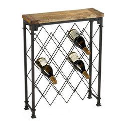 "Joshua Marshal - Rustic 28.75"" Hudson Wine Rack Wine Rack - Rustic 28.75"" Hudson Wine Rack Wine Rack"