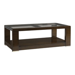 Aquarius - Aquarius Aura Cocktail Table in Walnut Finish - Aquarius - Coffee Tables - 014211615 - About the Aquarius Collection: