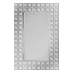 Ren-Wil - Ren-Wil MT885 Portrait Mirror in All Glass - This contemporary design features dozens of small beveled mirror squares surrounding a beveled center mirror creating a sharp overall look.