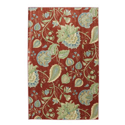 American Rug Craftsmen - Flagstaff Foley House Red Floral 5' x 8' American Rug Craftsmen (11803) - Our Flagstaff Collection is crafted from an innovative nylon fiber. The collection boasts bright colors, trendy designs and super plush cut pile. Treat your floor to these luxurious and affordable rug designs. Printed on the same machines that manufacture one of the world
