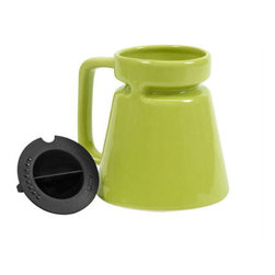 HighWave - Hotjo, Kiwi - The first wide base travel mug on planet earth with a drink-through top. Now improved to hold 18 ounces! A timeless classic perfect for home or on-the-go use. Rubber bottom pad helps keep your mug in place.