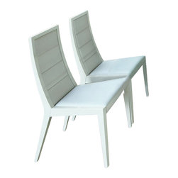 Rossetto - Sapphire White Upholstered Chair - Features: