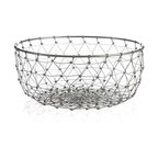 Whim Large Basket - Artisans knot and weave iron wire into a geodesic web for serving breads, fruit or displaying decor items.