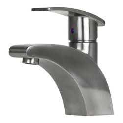 BOANN - BOANN Eva (BNYBF-M03S) 6.3 Inch 304 Stainless Steel Bathroom Faucet - The BOANN Eva bathroom faucet is a short spout bathroom faucet with a unique arc design. Constructed from solid t304 stainless steel and a finish to match, the BOANN Eva bathroom faucet produces clean, lead-free water and will enhance the look of any contemporary decor. Using t304 grade material is more expensive than other grades because it is a higher quality, which is also why it is more durable. This premium grade of stainless steel is generally used in equipment that requires more strength and durability like in cars and machines. Unlike other faucets, 304 stainless steel material is 100% lead free. The BOANN Eva faucet includes the installation accessories, Hot and Cold water lines and installation instruction manual.