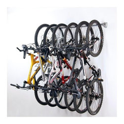 Bike Storage Rack - Easily hang your bikes out of the way for extra space in your garage.