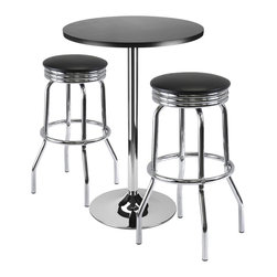 Winsome - 93362 Summit Bar Table with 2 Swivel Stools - Summit Bar Table with 2 Swivel Stools