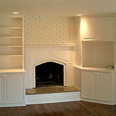 Handmade Custom Built-Ins on either side of Fireplace by Best Cabinets | CustomM