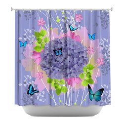 DiaNoche Designs - Shower Curtain Artistic - Lavender - DiaNoche Designs works with artists from around the world to bring unique, artistic products to decorate all aspects of your home.  Our designer Shower Curtains will be the talk of every guest to visit your bathroom!  Our Shower Curtains have Sewn reinforced holes for curtain rings, Shower Curtain Rings Not Included.  Dye Sublimation printing adheres the ink to the material for long life and durability. Machine Wash upon arrival for maximum softness. Made in USA.  Shower Curtain Rings Not Included.