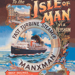 Buyenlarge - New Route to the Isle of Man via Heysham on the Fast Turbine Steamer Manxman 20x - Series: Ships - Cruise