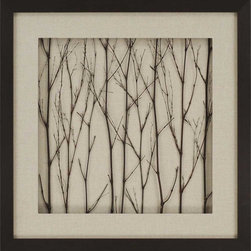 Paragon Decor - All Naturelle Artwork - Bamboo sticks are shadow boxed with fabric matting.