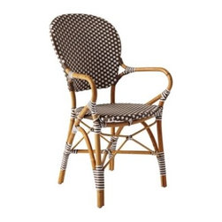 Serena & Lily - Riviera Armchair Mushroom - A classic 1930s European bistro chair, reinterpreted. Handcrafted of sustainable rattan and woven plastic seats in an always-right neutral and white, it's stylish and durable enough for all your dining destinations -- from the breakfast nook to the patio. A near perfect match to our Riviera Side Chair, with just a slight variation in the way the colors are woven to keep things interesting.