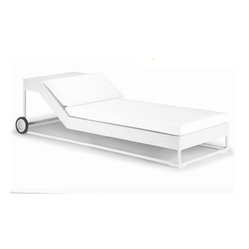 Miami Designer Patio Chaise Lounge - This Miami Chaise Lounge is highlighted by its ultra-modern styling