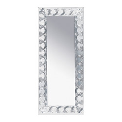 Lalique - Lalique Rinceaux Full Length Mirror Clear - Lalique Rinceaux Full Length Mirror Clear 1021800  -  Size: 1.61 Inches Long x 25.79 Inches Wide x 59.61 Inches Tall  -  Genuine Lalique Crystal  -  Fully Authorized U.S. Lalique Crystal Dealer  -  Created by the Lost Wax Technique  -  No Two Lalique Pieces Are Exactly the Same  -  Brand New in the Original Lalique Box  -  Every Lalique Piece is Signed by Hand, a Sign of its Authenticity and Quality  -  Created in Wingen on Moder-France  -  Lalique Crystal UPC Number: 090592102183