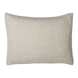 Amity Home - Amity Home Standard Quilted Sham - Not only is Basillo bedding a just-right combination of ruffles and textures, but an array of color choices gives you lots of mix-and-match options. All of linen except European shams and Petite Ruffle linens which are cotton. Machine wash. Imported. S...