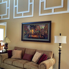 Contemporary Living Room by Dress Your Windows LLC