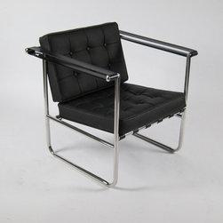 Celona Chair, Black Leather -