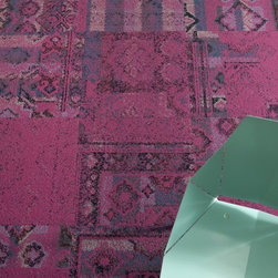 Remembrance carpet tile in Fuchsia from FLOR -