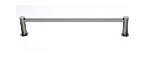 "Top Knobs - Hopewell Bath 24"" Single Towel Rod - Brushed Satin Nickel - Length - 25 1/2"", Projection - 3 5/8"", Center to Center - 24"", Bar Stock Diameter - 5/8"", Base Diameter - 1 1/2"" w (x) 1 1/2"" h"