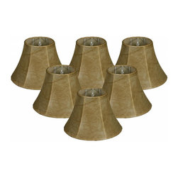 """Royal Designs, Inc"" - Bell Chandelier Lampshade - Mouton Size 6 (6 Pack) - This shade is a part of Royal Designs, Inc. Timeless Chandelier Shade Collection and is perfect for anyone who is looking for a simple yet stunning lampshade. Royal Designs has been in the lampshade business since 1993 with their multiple shade lines that exemplify handcrafted quality and value."