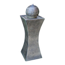 "Serenity Health & Home Decor - Cannonade Outdoor Solar On Demand Floor Fountain - Dimensions: 39"" H x 13"" W, 13 lbs."