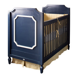 Newport Cottages - Beverly Crib with Moldings - IWho says that a crib can't have sophistication? The Beverly crib will add classic charm to your nursery with its clean lines and contrasting molding accents. This is one crib that's sure to be handed down for many generations.