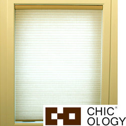 None - Chicology Whisper Almond Cordless Cellular Window Shade - These Cordless Cellular window shades are energy efficient,helping to insulate your home. These cordless shades open and close with the gentle pull and push of your hand.