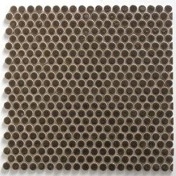 Penny Round Mosaic tiles - penny round tile, penny tiles, shower floor tile, white tile, round tile, floor tile, bathroom tile, shower floor tile, bathroom floor mosaics, non-slip tiles, white tiles, carrara, crema marfil, grey tile, circle tile, dotcom, getaround tile