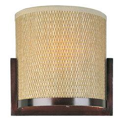 ET2 Lighting - ET2 Lighting E95080-101 Elements Wall Sconce - 1 Bulb, Bulb Type: 60 Watt G9 Xenon, Bulb Included
