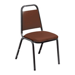 National Public Seating - National Public Seating 9100 N Series Vinyl Stacking Chair - Burgundy - 9108-40 - Shop for Chairs from Hayneedle.com! Convenient comfortable classic the National Public Seating 9100 N Series Vinyl Stacking Chair - Burgundy is perfect for large events - conferences banquets training events receptions and more. Each chair is framed with durable tubular construction and covered in a durable vinyl seat covered in thick high-density foam upholstery for comfort. Available in a choice of quantities.Additional information:18-inch seat heightNon-marring plastic glidesH brace frame and plywood core holds up under institutional useFront frame strengthener5-year warrantyAbout National Public SeatingNational Public Seating provides seating products of the highest quality grade materials and craftsmanship for educational religious hospitality government commercial and other institutional markets. Incorporated in 1997 National Public Seating is based in Clifton N.J. and offers one of the nation's largest lines of quick-ship in-stock folding chairs and tables stack chairs stools and dollies. Other product lines include stages risers science tables and mobile cafeteria tables. Their high-quality products are currently in use in tens of thousands of facilities nationwide.Mindful of Our EnvironmentNational Public Seating is committed to preserving the quality of their products and the quality of the environment. To this end the company manufactures their products with varying percentages of pre- and post-consumer waste (recycled material). All of the steel for their products contains 30-40% of post-consumer waste and their plastic products contain up to 35% of pre-consumer waste. All of the wood used for their products comes from non-boreal forests. National Public Seating also uses powder-coat finishes instead of liquid finishes in order to prevent pollutants from being released into the atmosphere and to reuse retrieved overspray. All these efforts and more