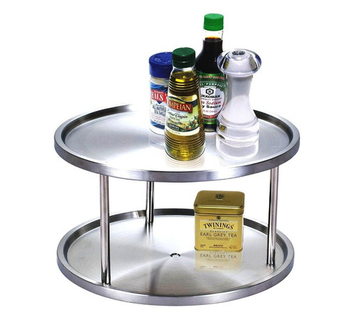 Cook N Home - Cook N Home 10-1/2-Inch 2 Tier Lazy Susan - 2 tier Lazy Susan stainless steel 10-1/2-Inch diameter 7-Inch height, simple assembly required Cook N Home Brand