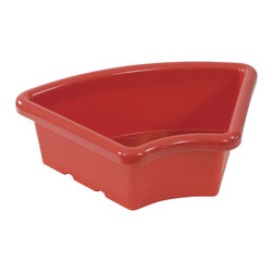 Ecr4kids - Ecr4Kids Preschool Organizer Fan Shaped Tray Without Lid Red Pack Of 20 Toy - Replacement Bin for use with storage units and Sand and Water Play Centers.Replacement polypropylene basin for modular Sand and Water Play Centers, Ellipse Storage Centers and other laminate storage centers.Note Colors may vary - may change without notice. Also available with clear lid (model ELR-0805-XX), sold separately To avoid attraction by animals or insects, do not leave water standing after use.