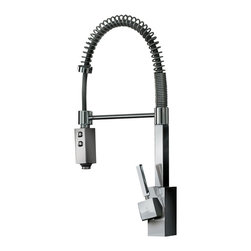 WS Bath Collections - WS Bath Collections Domino Two Spray Hand Shower - Fill big pots with water and clean your dishes with ease, with this professional two-spray hand shower. This high-end, Italian-made polished chrome faucet will revolutionize your catering and cleanup chores, and add a definite dash of crackerjack kitchen chic to your cuisine.