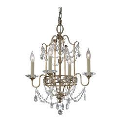 Murray Feiss - Murray Feiss F2476/4MBZ Mocha Bronze Gianna Crystal 4 Light 1 Tier Chandelier - Lamping Technologies: